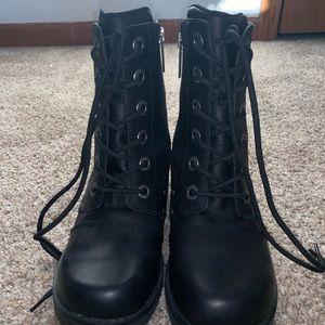 Black Harley Davidson Combat Boots